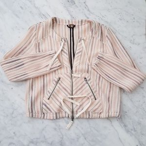 Free People Elegant Striped Jacket.